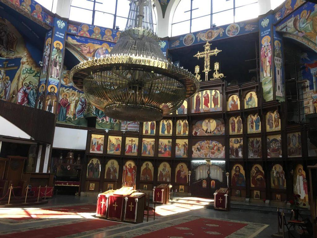 スコピエの教会内部